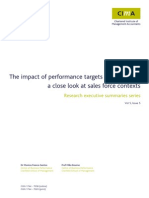 Impact Performance Targets Behaviour