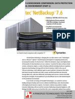 Symantec NetBackup 7.6 benchmark comparison