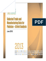 Trade and Manufacturing Data une-2013