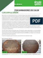 Proceso Limpieza Intercambiadores de Calor Con Simple Green