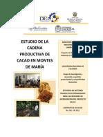 Estudio de La Cadena Productiva de Cacao en Los Montes de Maria Bolivar y Sucre