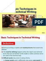 Basic Techniques of Technical Writing