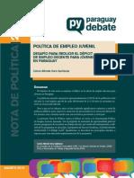 Nota de Politica Nro. 20 Empleo Juvenil