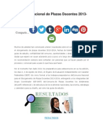 Concurso Nacional de Plazas Docentes 2013
