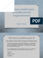 Técnicas y medios para la recolección de requerimientos.pptx