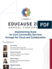 Implementing Scale for Core Commodity Services through the Cloud and Collaboration (241281192)
