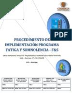 Procedimiento de Implementación Programa Fatiga y Somnolencia