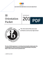 Class of 2017 Orietnation Packet Entering as 10th
