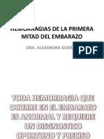 Hemorragias de La Primera Mitad Del Embarazo Final (1)