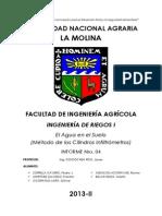 Inf.nro.04 - El Agua en El Suelo (Método de Los Cilindros Infiltrómetros)