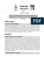 Federally Speaking 16 by Barry J. Lipson, Esq