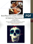 Best Place for Lunch Dinner and Events in Gastown Vancouver British Columbia