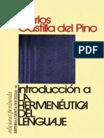 Del Pino, Carlos Castilla - Introduccion a La Hermeneutica Del Lenguaje