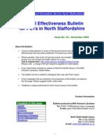 Clinical Effectiveness Bulletin 34 - November 2009