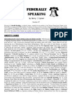 Federally Speaking 37 by Barry J. Lipson, Esq