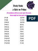 Math Study Guide 7