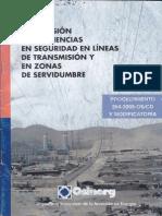 Supervición de Deficiencias en Seguridad en Líneas de Transmision y en Zonas de Servidumbre