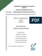Actividad 2.6_Recursos Educativos Justificación, Ventajas y Desventajas