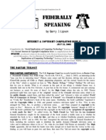 Federally Speaking Internet & Copyright Compilation Issue II by Barry J. Lipson, Esq