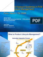 Microsoft and Dassault Systèmes in PLM (Product Lifecycle Management) Paris,