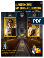 Filipino Saints Fiesta Celebration Mass Guide 2014