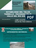 Estabilidad Del Talud Tambilllo - Pachaqui