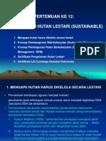 12.Pengelolaan Hutan Lestari