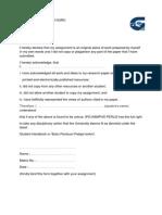 contoh deklarasi kerja kursus ipg versi bahasa inggeris