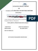 Marketing Strategy of Hyundai Motors in Patna