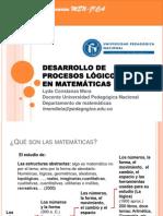 Desarrollo de Procesos Logicos en Matemáticas