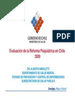 Evaluacion Reforma Psiquiatrica Minoletti 2009