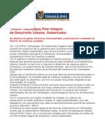 com0952 081106 Tendrá Tamaulipas Plan Integral de Desarrollo Urbano