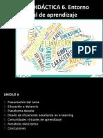 Unidad 6 - Entornos Virtuales de Aprendizaje