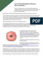¿Tratamiento Para El Virus Del Papiloma Humano, Remedios Médicos o Naturales?