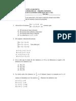Evaluacion 9 Grado Sistemas 2x2 y 3x3.