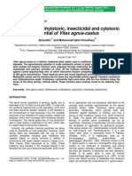Antibacterial Phytotoxic Insecticidal and Cytotoxic Potential of Vitex Agnus Castus