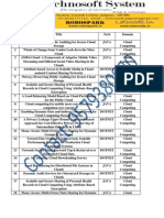 IEEE Project List - Technosoft Systems