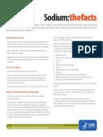 Sodium Fact Sheet