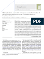 Efficiency-based rank assessment for electric power industry