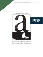 Latin Modern Family of Fonts