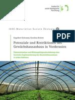 Potenziale und Restriktionen des Gewächshausanbaus in Vorderasien