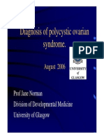 Diagnosis of PCOS - Jane Norman