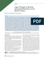 Low Estrogen to Reverse Drug Resistance in Breast c