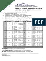 Baseball Interval Throwing Program_Phase 1_Long Toss