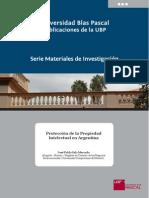 5122012MI Protección de La Propiedad Intelectual en Argentina