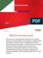EEET7019C Material Science_Week 1-Introduction 2013
