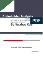 Stakeholder Analysis by Naushad Kazi