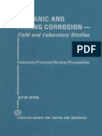 Stp576 Galvanic and Pitting Corrosion-field and Laboratory Studies