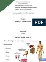 Aula 3 - Nutrição e Nutrientes
