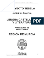 Lengua Castellana 1 Bach Región de Murcia Clasicos